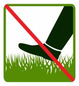 Sign.Do not step on grass — Stock Vector