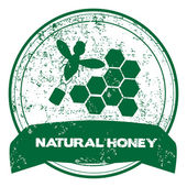 Natural honey stamp — Stock Vector