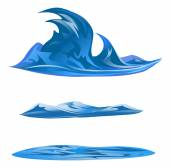Abstract water waves — Stock Vector