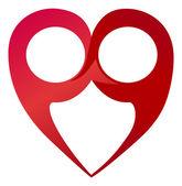 Infinity heart — Cтоковый вектор