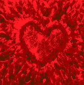 текстурированный фон с сердцем — Cтоковый вектор
