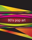 80's pop art background — Stock Vector