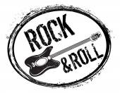 Rock and roll stamp — Stockvector