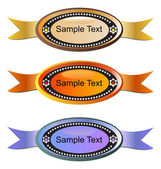 Set of tags with text — Stock Vector