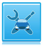 Car repair sign with tools — Vector de stock