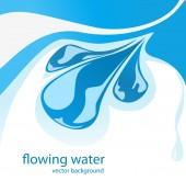 Blue water splash — Stock Vector