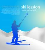 Blue skiing background — Vector de stock