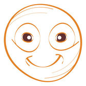 Smile face drawing — Stock Vector