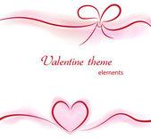 Valentine elements on background — Stock vektor
