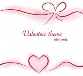 Valentine elements on background — Vetor de Stock