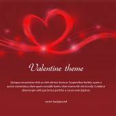 Valentine red background — Stock Vector