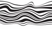 Optical effect mobius wave stripe design — Stock Vector