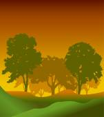 Forest trees silhouettes — Stock Vector