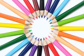 Colored pencil cycle — Stock Photo