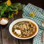 "Russian cold soup ""okroshka"" — Stock Photo #73791273"