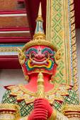 Figure guardian demon , terrify , in Thai temple — Stock Photo