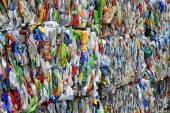 Colored Plastic Bottles for Recycling — Stock Photo