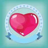 Heart jelly shape in Looped Circle — Stock vektor