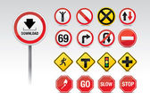 Traffic icon signs — Stock Vector