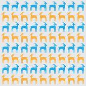 Goat pattern — Stock Vector