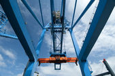 Crane at Freight Terminal — Stock Photo