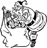 Santa Claus With Sack — Stock Photo