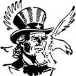 Uncle Sam With Eagle — Stock Vector #55667607