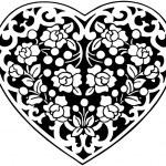 Flowered Heart Motif — Stock Vector #55667963