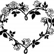 Heart Of Roses — Stock Vector #55667965