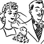 Newlyweds — Stock Vector #55669315