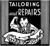 Tailoring And Repairs — Stock Vector
