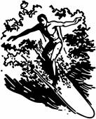 Man Surfing — Stock Vector