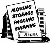 Moving Storage Packing Shipping — Stock Vector
