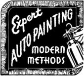 Expert Auto Painting — Stock Vector