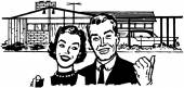 Happy Homeowners — Stock Vector