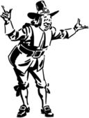 Pilgrim Man — Stock Vector