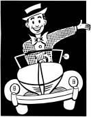 Happy Driver — Stock Vector