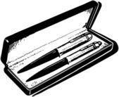 Pen Set — Stock Vector