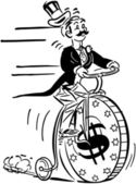 Penny Farthing High Roller — Stock Vector