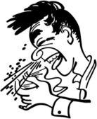 Big Sneeze — Stock Vector