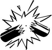Exploding Firecracker — Stockvektor