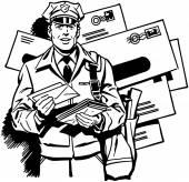 Facteur de distribution du courrier — Vecteur
