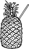 Pineapple Drink — Stock Vector