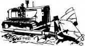 Spychacz — Wektor stockowy