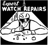 Expert Watch Repairs — Stock Vector