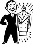 A Brand New Suit - Retro Clip Art — Stock Vector