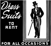 Dress Suits To Rent — Stockvector