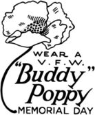 Wear A Buddy Poppy — Stock Vector