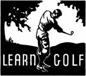 Learn Golf — Stock Vector