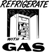 Refrigerate With Gas — Stock Vector